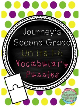 Vocabulary Puzzles Bundles - Grade 2 - Journeys (Units 1-6)