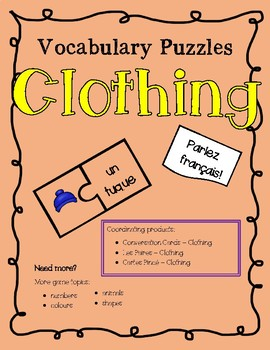 Vocabulary Puzzles - Clothing