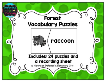 Vocabulary Puzzles: Forest Set