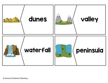 Vocabulary Puzzles: Landforms Set