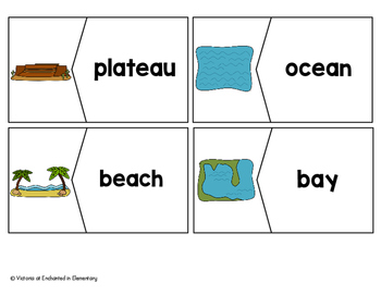 Vocabulary Puzzles: Landforms Set