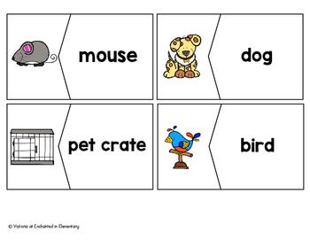 Vocabulary Puzzles: Pets Set