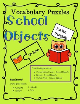 Vocabulary Puzzles - School Objects