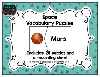 Vocabulary Puzzles: Space Set