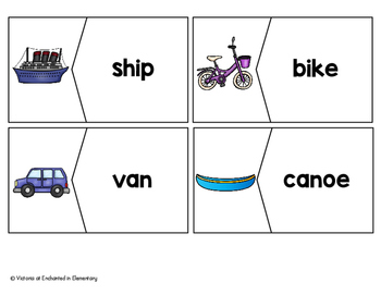 Vocabulary Puzzles: Transportation Set
