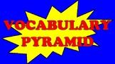 Vocabulary Pyramid