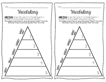 Vocabulary Pyramid