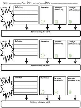 Vocabulary Quadrant Strategies