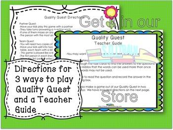 Spring Activities- April Vocabulary Game