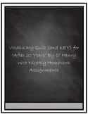 """Vocabulary Quiz- """"After Twenty Years"""" by O'Henry"""