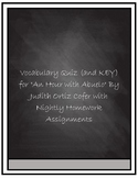 """Vocabulary Quiz- """"An Hour With Abuelo"""" by Judith Ortiz Cofer"""