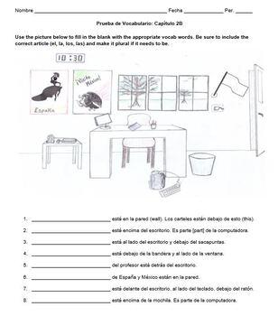 Vocabulary Quiz Chapter 1B Realidades 1