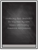"Vocabulary Quiz- ""Key Item"" by Issac Asimov"