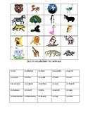 Vocabulary Quiz- Les animaux