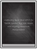"Vocabulary Quiz- ""Serial Garden"" by Joan Aiken"