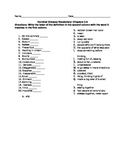 Vocabulary Quiz over The Hundred Dresses (First 3 Chapters)
