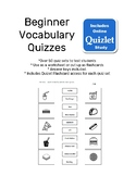 Vocabulary Quizzes ESL, EFL Flashcards Distance Learning Tests
