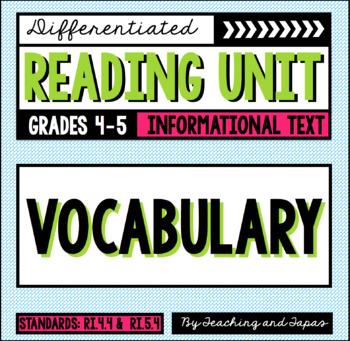 Vocabulary (RI.4.4 and RI.5.4)