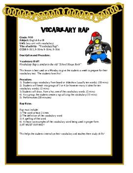 Vocabulary Rap