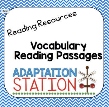 Vocabulary Reading Passages (VAAP Resource!)