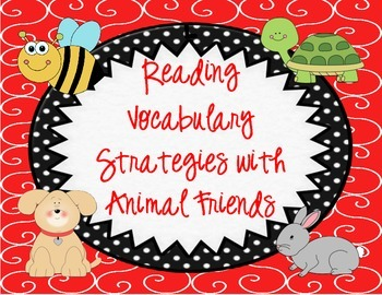 Vocabulary Reading Strategy Cards with Animal Friends