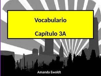 Community Vocabulary Realidades 2 Chapter 3A