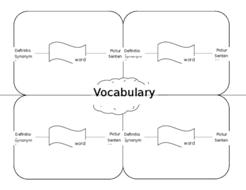 Vocabulary Recording Sheet