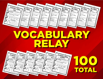 Vocabulary Relay Worksheets (100 pages)