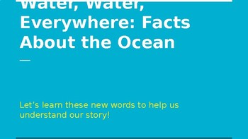 Vocabulary Resource for Water, Water, Everywhere