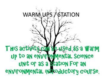 Environmental Science Warm Ups