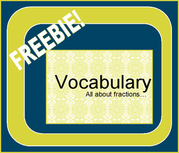 Vocabulary Review - Fractions