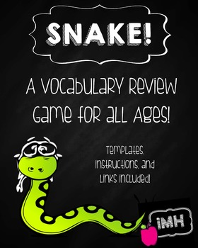 Vocabulary Review Game - SNAKE!