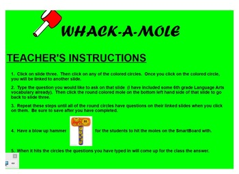 Vocabulary Review Game - Wac-A-Mole