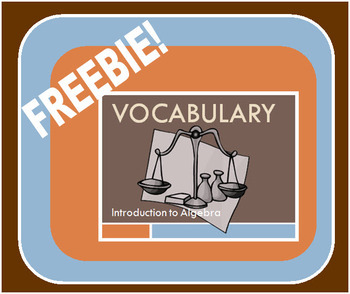 Vocabulary Review - Introduction to Algebra