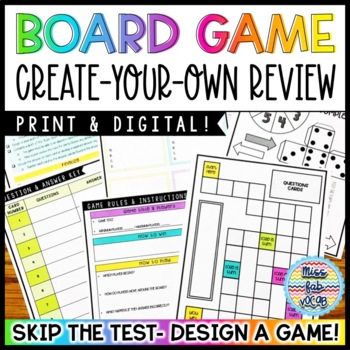 Vocabulary Review: Student-Made Board Games!