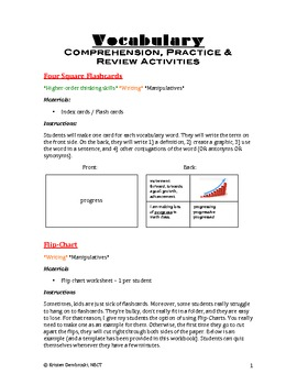 Vocabulary Review & Practice: 16 Fun Activities for Comprehension: All Subjects