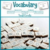 Vocabulary Task Cards: Prefixes, Suffixes, Antonyms, Synon