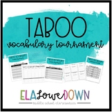 Vocabulary Review Taboo Tournament