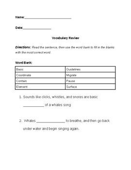 8  Blank Vocabulary Worksheet Templates – Free Word, PDF Documents ...