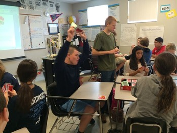 Vocabulary Review using the board game Apples to Apples--fun and easy!
