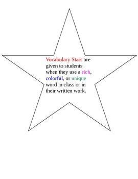 Vocabulary Reward System