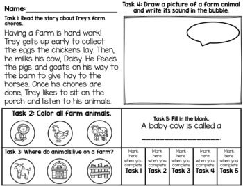 Vocabulary Ring-a Lings: Animals