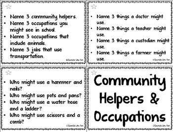 Vocabulary Ring-a Lings: Community Helpers & Occupations