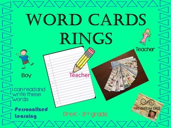 Vocabulary Ringed Word Cards - Personalized Learning