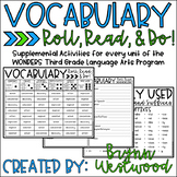 Vocabulary Roll, Read, & Do! Wonders Third Grade Vocabulary Words