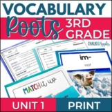 3rd & 4th Grade Vocabulary UNIT 1 - Greek & Latin Roots
