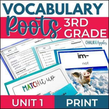 Greek & Latin Roots Word Study Vocabulary UNIT 1 for Grades 3-4