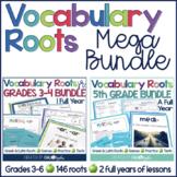 Vocabulary Roots MEGA BUNDLE (Grades 3-6)
