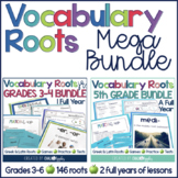 Vocabulary Roots MEGA BUNDLE (Grades 3-6)