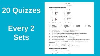 Vocabulary Roots, Pre & Suffixes WHOLE YEAR BUNDLE (Slides, Practice & Quizzes)